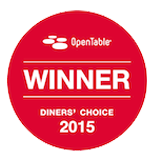OpenTable Winner 2015 Diners' Choice Award